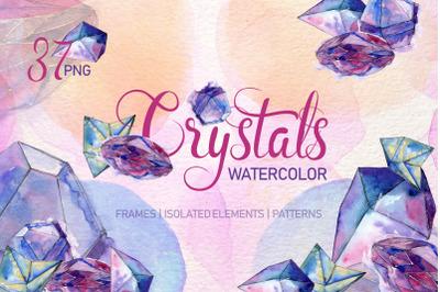 Crystal blue dreams come true watercolor png