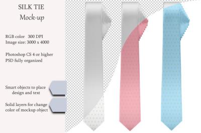 Silk tie Mockup. Product mockup.