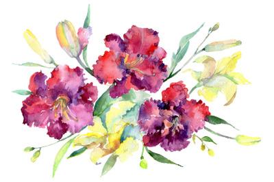Bouquet Happy Watercolor png