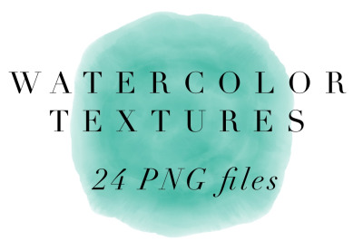Watercolor texture Backgrounds - 24 PNG files