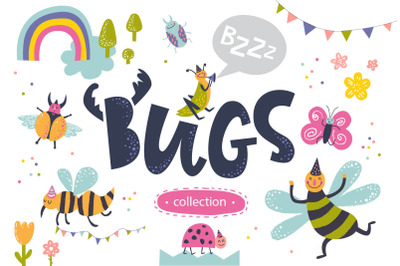 Bugs. Graphic clip art