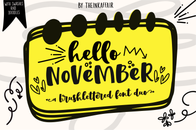 Hello November Font Duo + Bonus