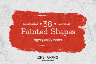 38 Universal Painted Shapes