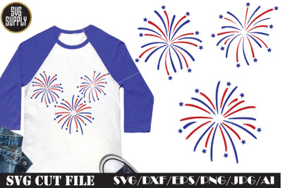 American Fireworks SVG Cut File