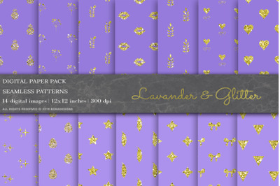 Lavander Glitter Digital Papers