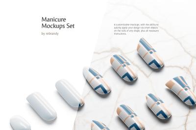 Manicure Mockups Set