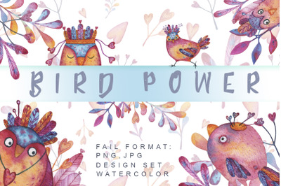 Bird Power Watercolor set