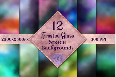Frosted Glass Space Backgrounds - 12 Image Textures Set