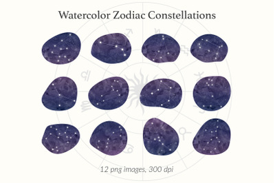 Zodiac Horoscope Stars Set
