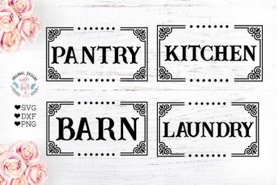 Laundry - Barn - Kitchen - Pantry Home Decor Cut Files