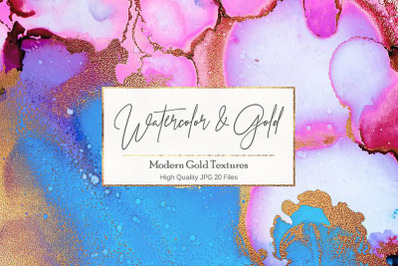 Watercolor Gold Textures