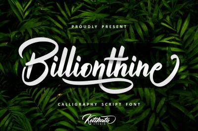 Billionthine Calligraphy Script