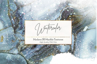 Watercolor and Marble PNG Textures