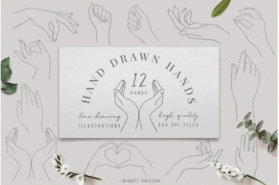 Women's Hands Graphics Set