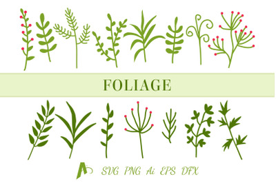 Leaf SVG file, Leaf Bundle, Foliage and Branches SVG.