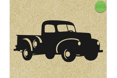 vintage farm truck Hand drawn, Vector, Eps, Logo, Icon, crafteroks