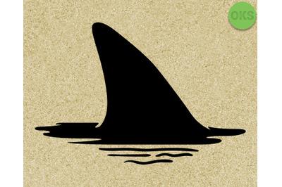 shark fin Hand drawn, Vector, Eps, Logo, Icon, crafteroks, silhouette