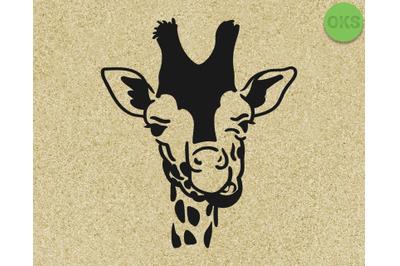giraffe face Hand drawn, Vector, Eps, Logo, Icon, crafteroks