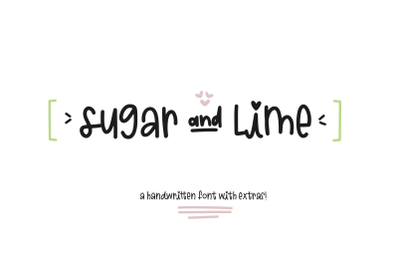 Sugar and Lime - A Fun Font with Doodles!