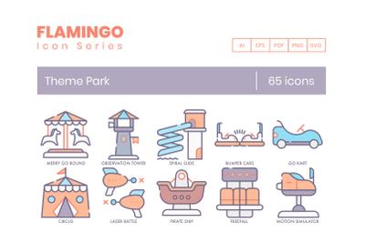 65 Theme Park Icons