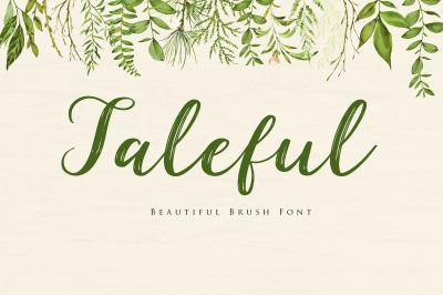 Taleful - Beautiful Brush Script Font