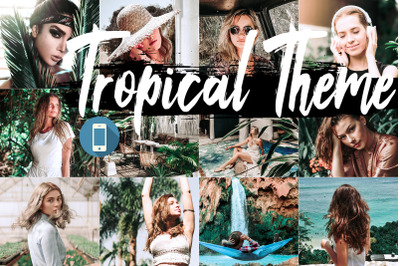 Neo Tropical Theme mobile lightroom presets