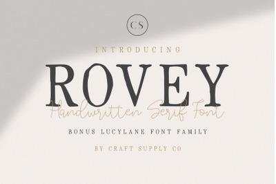 Rovey - Handwritten Serif Font+Bonus