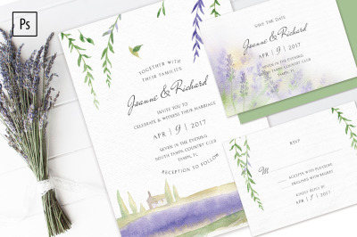 Lavender Wedding Invitation Kit