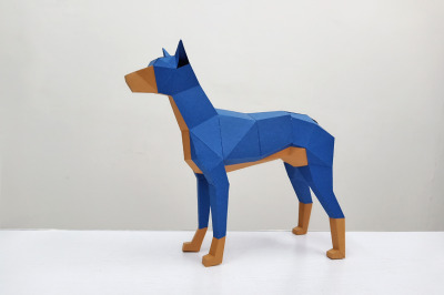 DIY Doberman dog - 3d papercraft