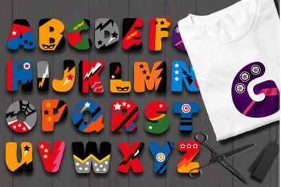 Superhero Alphabet Letters