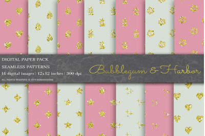 Glitter Geometric Digital Papers
