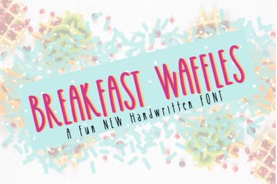 Breakfast Waffles Font