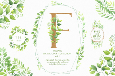 Foliage watercolor collection vol.1