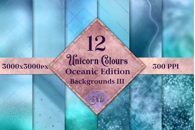 Unicorn Colours Backgrounds III - Oceanic Edition Textures