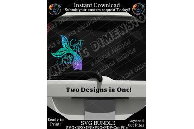 Get off my tail mermaid for car decal SVG, Mermaid Svg, Mermaid tail,