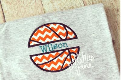 Basketball Split | Applique Embroidery