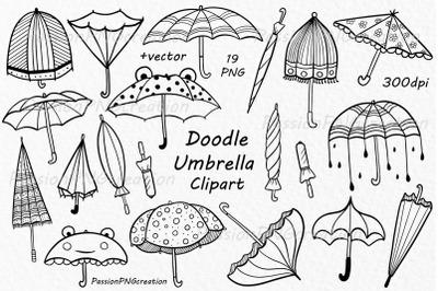 Doodle Umbrella Clipart