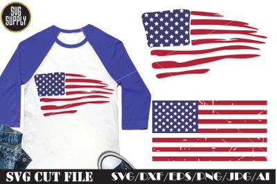 American Flag Art SVG Cut File