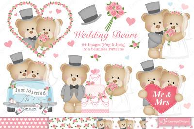 Wedding clipart, wedding graphics and illustrations -C34