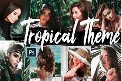 Neo Tropical Theme Color Grading photoshop actions