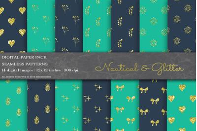 Nautical Geometric Digital Papers