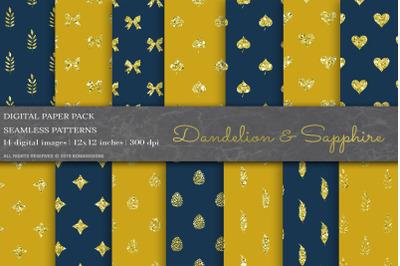 Dandelion & Sapphire Glitter Patterns