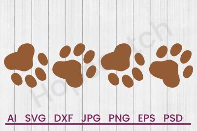 Dog Paws - SVG File, DXF File