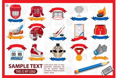 Hockey. Super set of elements