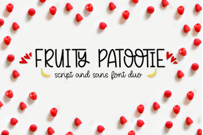 Fruity Patootie Font Duo
