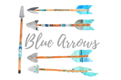 Watercolor bohemian arrow clipart