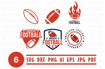 American football logo design template
