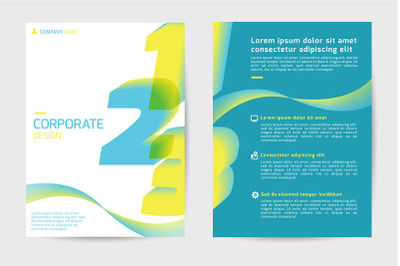 Cover book design - Vector
