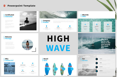 High Wave - Surfing Powerpoint Template