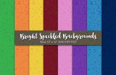 Bright Speckled Backgrounds